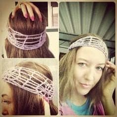 crochet headband twist