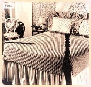 vintage popcorn stitch crochet pattern