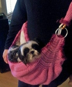 dog sling crochet pattern