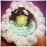 crochet baby in bassinet