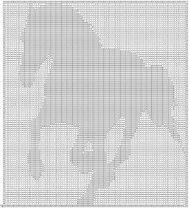 Free filet crochet pattern horse filet crochet free pattern