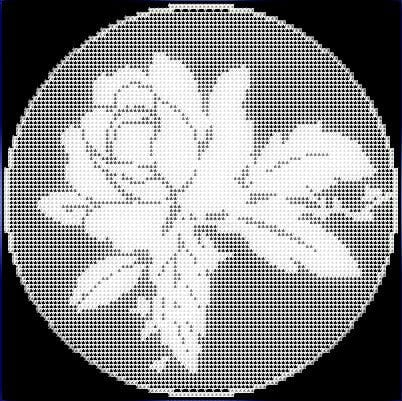 rose crochet pattern filet crochet rose pattern