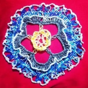 crochet flower pattern in broomstick and hairpin crochet flower pattern