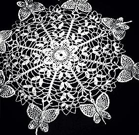 Butterfly Doily Pattern free vintage crochet pattern butterfly doily