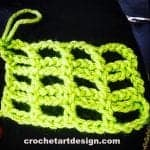 String Net crochet stitch crochet string net stitch