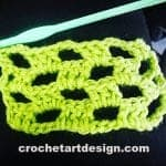open checker crochet stitch crochet open checker stitch