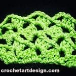 offset scallops crochet stitch crochet offset stitch