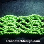 fan trellis crochet stitch crochet fan trellis stitch