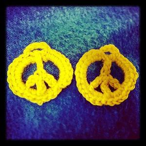 crochet peace symbol crochet pattern peace symbol crochet pattern