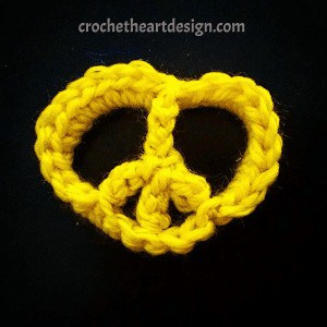 crochet heart shaped peace symbol