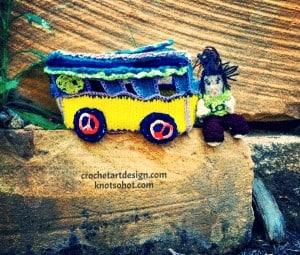 crochet kombi with crochet hippie