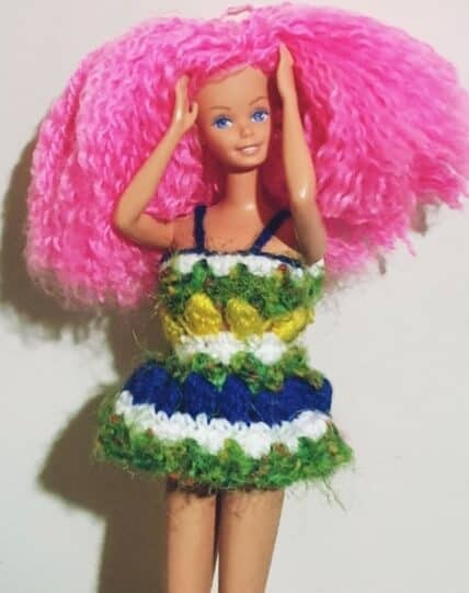 crochet barbie dress doll