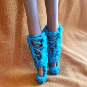 Crochet barbie boots crochet pattern