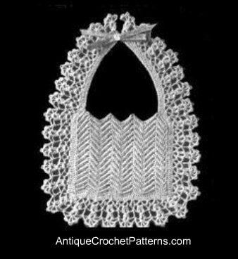 how to crochet baby bib vintage style