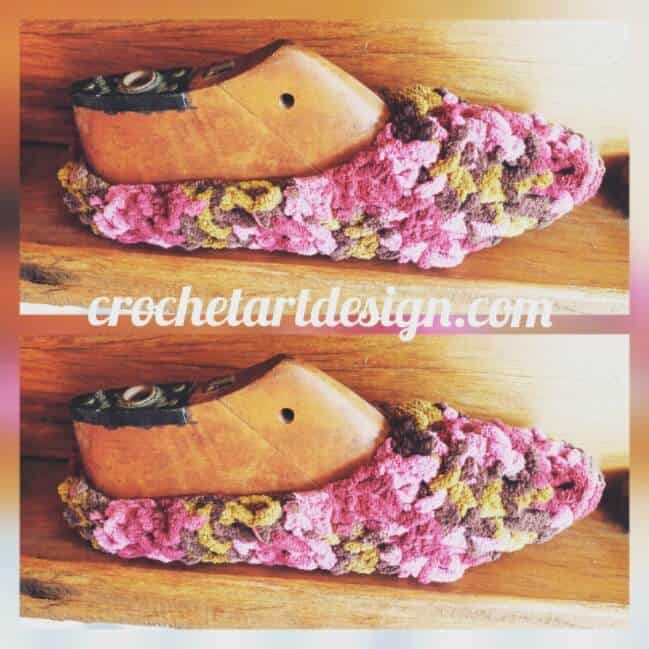 crochet hairpin slippers pattern