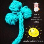 how to crochet bullion block stitch